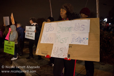 Protesters in Ferguson, Missouri on the evening of the grand jury announcement on November 24, 2014 in the shooting death of Michael Brown by police officer Darren Wilson. Photo by Nicole Jarrett Alvarado