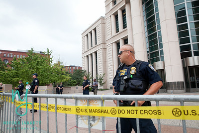 The St. Louis Courthouse was roped off to the public on Moral Monday August 10, 2015.