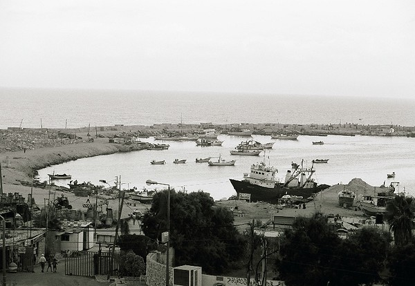 The fishing bay at the Gaza Strip.  The bay is now closed to fishing enforced by Israel.