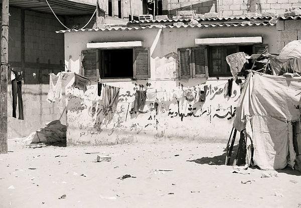 drying laundry in Biet Hannon, Gaza Strip.