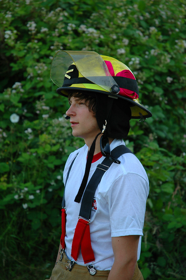 Fire Explorer takes a break from making the firebreak his Post is working on.