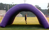 7:00 p.m. -- Brock Barbay, 5, of Kirbyville, grandson of Newton High School head coach Curtis Barbay, plays in the inflatable tunnel that the Newton Eagles will run through as they take the field at SIngletary Stadium Friday night.<br /> PHOTO/SCOTT ESLINGER                       OCT 1, 2004