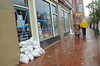 10.29.12- BALTIMORE,  MD- Baltimore Residents preparing for Hurricane Sandy around Fells Point.  (Maximilian Franz/The Daily Record).