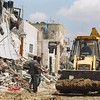 A few weeks after the Israeli's left the center of Jenin, the residents attempt to clean up the mess.