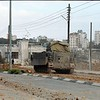 Israeli tanks rolling into Bethlehem during the second invasion of the city.