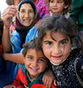 Arab refugees living in an abandoned Iraqi army base in Mosul.