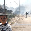Before Sadam's fall, journalist's walking around with camera's was a rare site.  This boy looks in facination at my camera.
