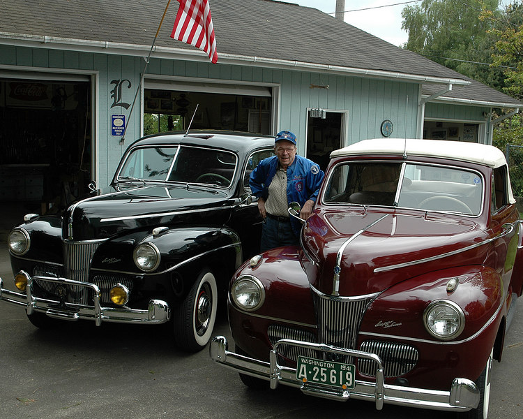 "Duane ""Dewey"" Landis and his 1941 Ford Super Deluxe"