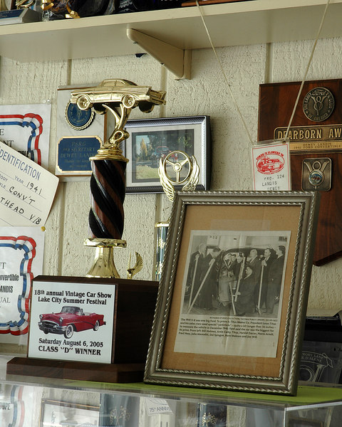 """Duane """"Dewey"""" Landis and his 1941 Ford Super Deluxe"""