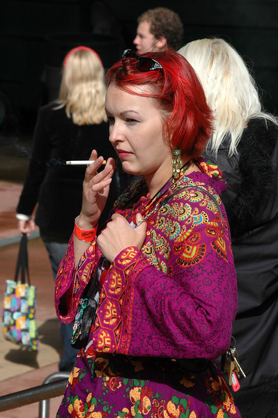 beautiful hair smoking break