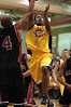 The Explosion's Ralph Steele goes up for the layup against Snohomish County All Stars Rashae Patterson