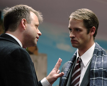 George Bailey arguing with Clarance