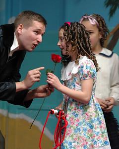 Zuzu and a rose