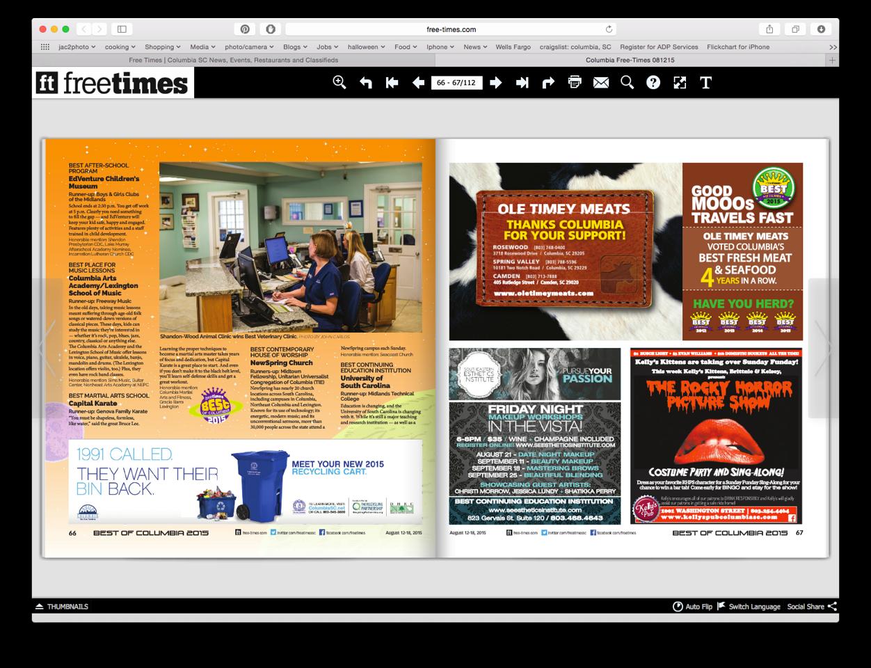 Free Times Newspaper 08/12/2015