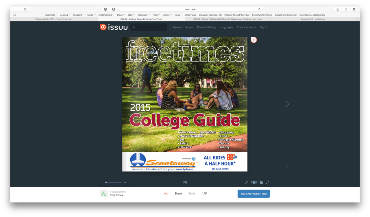 Free Times 2015 College Guide Cover 08/19/2015