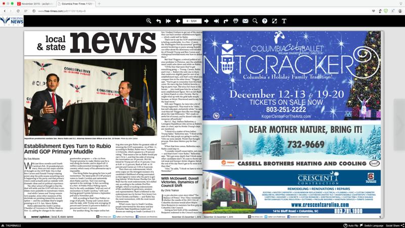 Free Times Newspaper 11/25/2015
