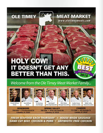 Ole Timey Meat Market Ad Photo on The Free Times Northeast Guide 2016