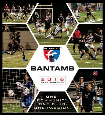 SC United Bantams 2016 Game Schedule (poster)