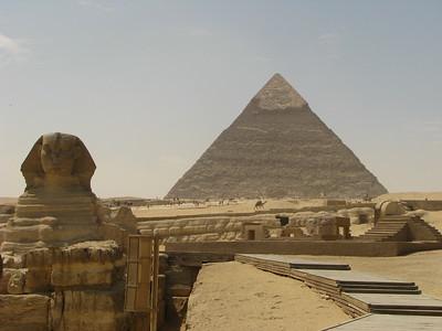 Hafré piramisa és a Szfinx