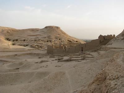 Dejr el-Medine Hathor-temploma észak felől