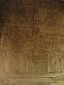 Ritka ábrázolás: Maat, mint II. Ramszesz patrónusa