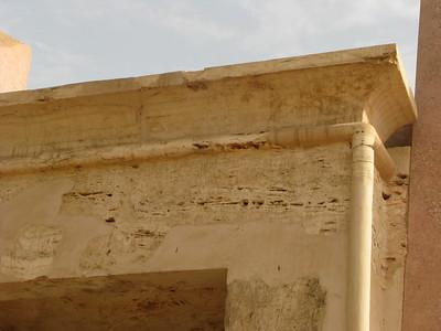 II. Amenhotep alabástrom bárkaszentélye a fáraó kartusaival
