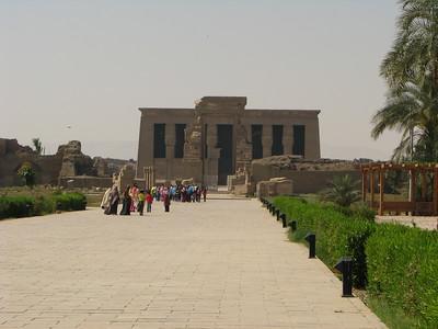 A Hathor-templom látképe