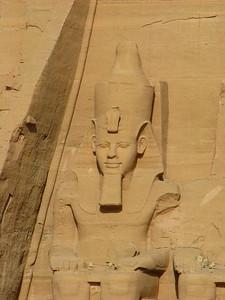 II. Ramszesz a Nagytemplom homlokzatának déli felén