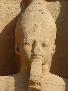 II. Ramszesz Felső-Egyiptom Fehér koronájával