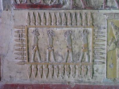 Számomra rejtélyes, megfejtendő jelenet Paheri sírjában