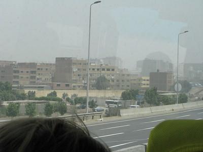 Kairó a buszból