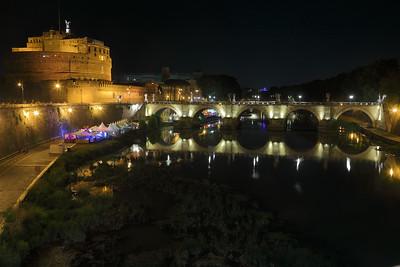 Castel San Angelo a notte — Az Angyalvár éjjel