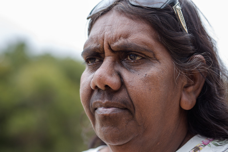 "Aunty Bella Bropho, founder of the Matagarup First Nations Refugee Camp. ""Matagarup has become a place of refuge, a place where we can make a stand and raise awareness of the forced closures."""