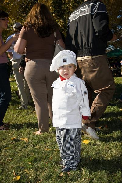 3 year old chili chef Cooper Follett.