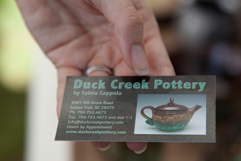 "Sylvia Coppola - Duck Creek Pottery - <a href=""http://www.duckcreekpottery.com"">http://www.duckcreekpottery.com</a>"