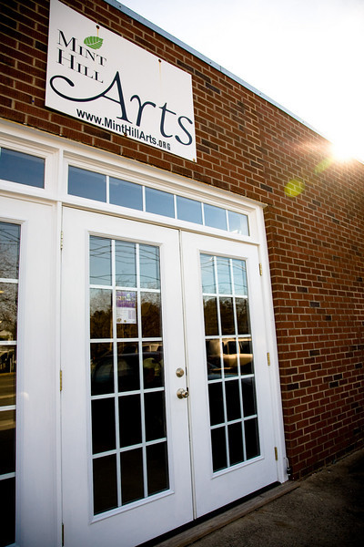 Mint Hill Arts entrance.