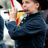 Karen Williams of Clinton, CT marches with Connecticut Valley Field Music during the 2011 Westbrook Muster.