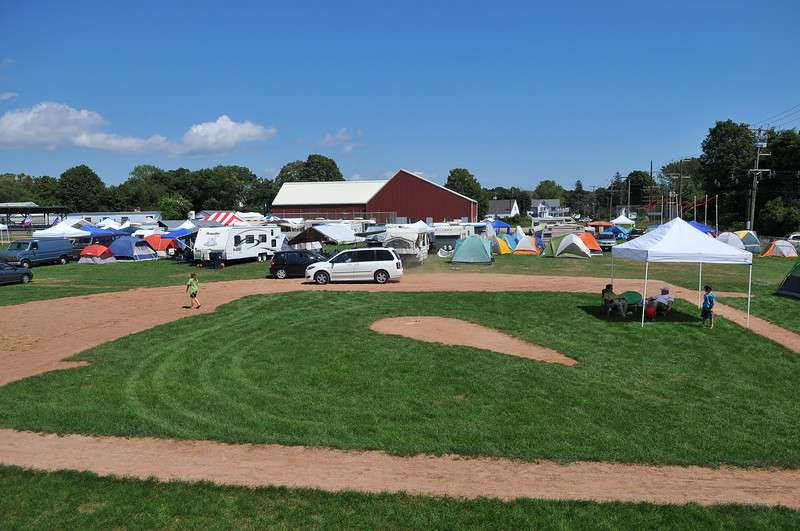 Westbrook muster:  Campers and tents begin to assemble in Westbrook for the 52nd Annual Westbrook Muster.  Evacuation orders were issued for 8PM Saturday night as Hurricane Irene is expected early Sunday morning.