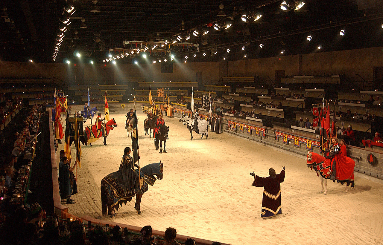 Overview of the ring before battle at Medieval Times in Arundel Mills Mall. Maximilian Franz/The Daily Record