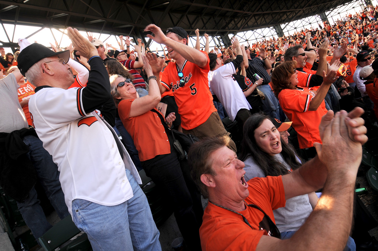04.04.2011 BALTIMORE, MD-  Photos taken on Opening Day for the Baltimore Orioles. (The Daily Record/Maximilian Franz).