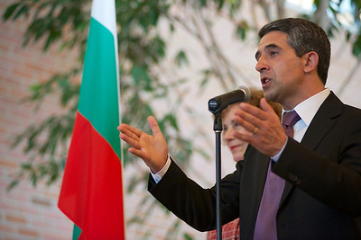 Bulgarian President Rosen Plevneliev in Chicago during his first trip to the United States.