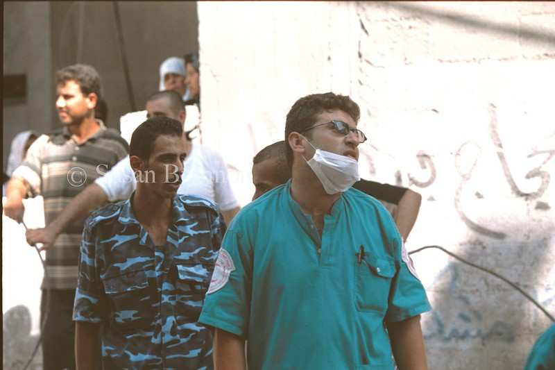 Gaza medical worker, after viewing a family of 12 that was killed during an Israeli attack in Gaza.