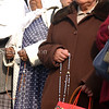 Vatican, Italy-Women pray at St. Peters Square in memory of Pope John Paul II the day after the announcement of his death.