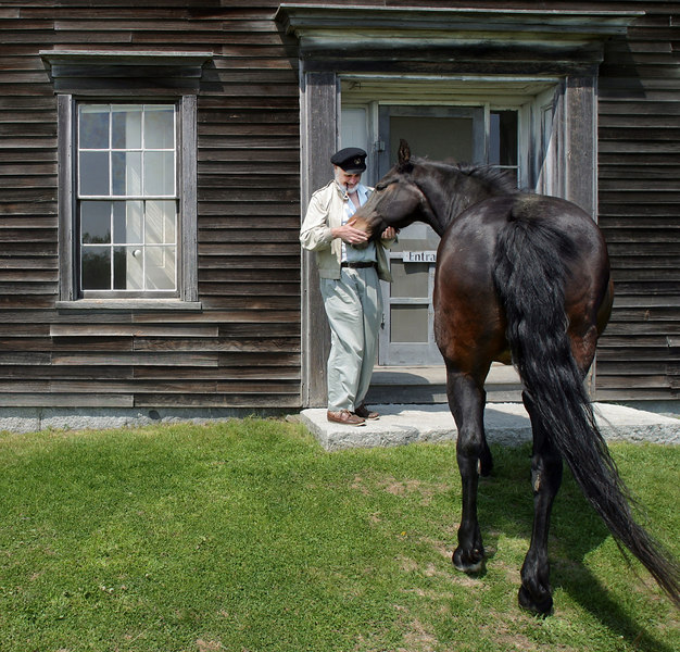 Saying hello at the Olson House in Cushing, Maine where Andrew Wyeth painted Christina's World.