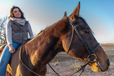 CSU student Kassidy Webber rides Chance, her rescue horse, in north Fort Collins on Thursday, November 8, 2018.
