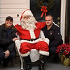 Mint Hill FD pose with Santa.