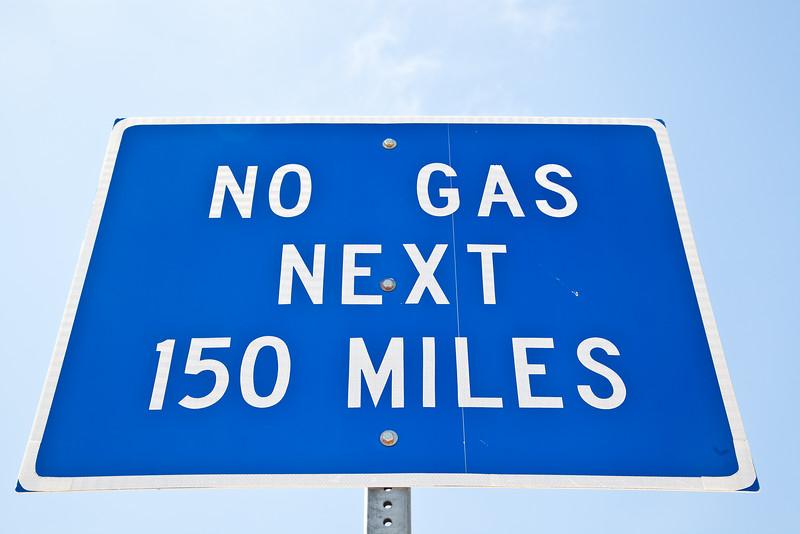 No Gas 150 Miles