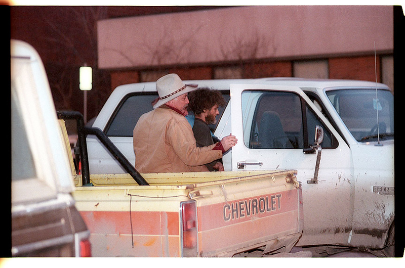 Unabomber suspect arrested in Lincoln, Montana and taken into FBI office in Helena, Montana.<br /> <br /> (Bruce Ely 503-381-2530)