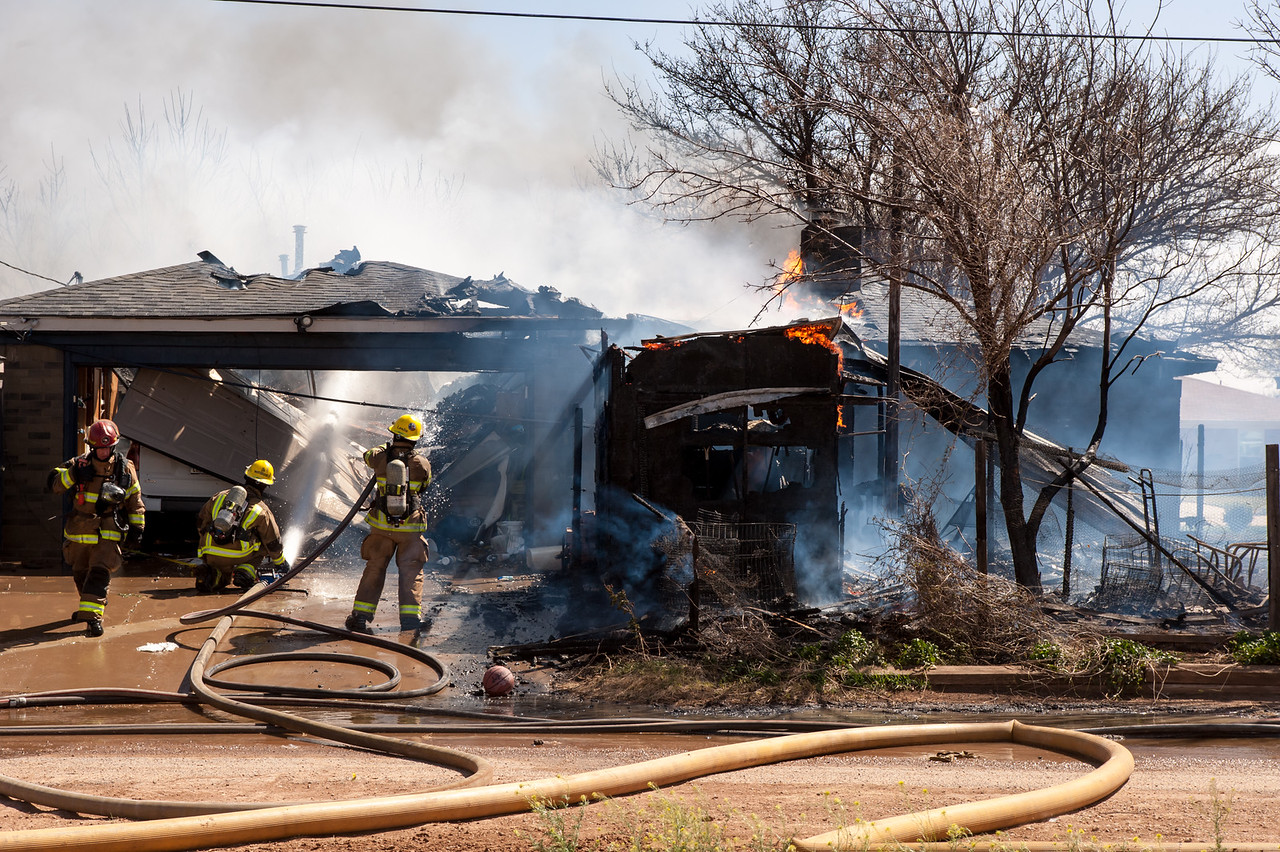 Fire Destroys Home Amarillo Globe News