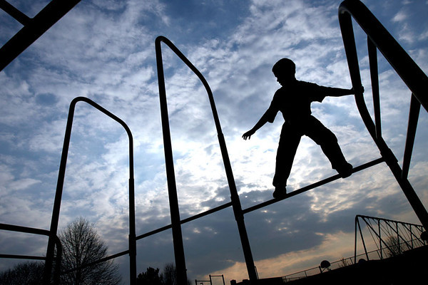 Chris Ammann/Examiner Josh Schimming, 11, of Jarrettsville plays on the playground equipment at North Harford Elementary School on Wednesday, March 29, 2006 in Pylesville.